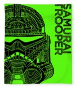 Stormtrooper Helmet - Green - Star Wars Art Fleece Blanket