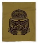 Stormtrooper Helmet - Star Wars Art - Brown  Fleece Blanket