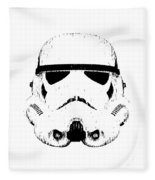 Stormtrooper Helmet Star Wars Tee Black Ink Fleece Blanket