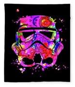 Stormtrooper Mask Rainbow 10 Fleece Blanket