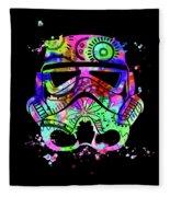 Stormtrooper Mask Rainbow 6 Fleece Blanket