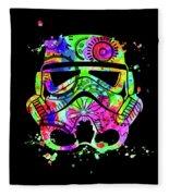 Stormtrooper Mask Rainbow 8 Fleece Blanket