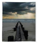 Stormy Atlantic Fleece Blanket