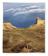 Stormy Day At Mitchell Pass Fleece Blanket