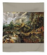 Stormy Landscape -  1625 Peter Paul Rubens Fleece Blanket