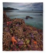 Stormy Life At Sea Fleece Blanket