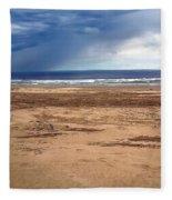 Stormy Nye Beach Fleece Blanket