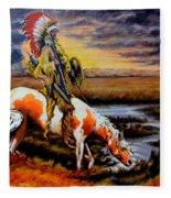 Stormy Prairie Fleece Blanket