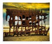 Stormy Shipwreck Fleece Blanket