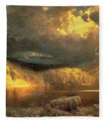Stormy Skies Above Echo Lake White Mountains  Fleece Blanket