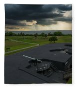 Stormy Sky Over Fort Moultrie Fleece Blanket