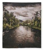 Stormy Streams Fleece Blanket