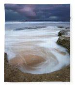 Stormy Sunrise Fleece Blanket