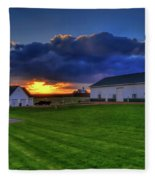 Stormy Sunset In The Country Fleece Blanket