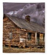 Stormy Times Tenant House Greene County Georgia Art Fleece Blanket