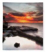 Stormy Twilight Afterglow Fleece Blanket