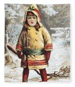 Stove Trade Card, C1890 Fleece Blanket