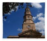 St.philips Church Charleston Sc Fleece Blanket