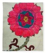 Strange Flower Fleece Blanket