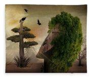 Stranger In The Forest Fleece Blanket