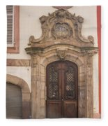Strasbourg Door 09 Fleece Blanket