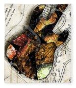 Strat Abstracta No. 4 Sunrise Fleece Blanket