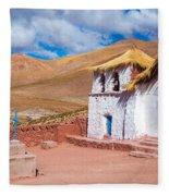 Straw Roof Machuca Church Fleece Blanket