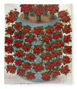 Strawberries, 1889 Fleece Blanket