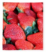 Strawberries 8 X 10 Fleece Blanket