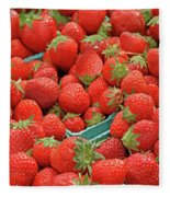 Strawberries Jersey Fresh Fleece Blanket