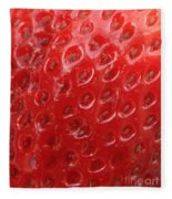 Strawberry Closeup Fleece Blanket