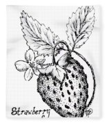 Strawberry Dreams Fleece Blanket