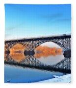 Strawberry Mansion Bridge  Fleece Blanket