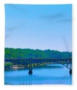 Strawberry Mansion Bridge From Laurel Hill Fleece Blanket