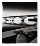 Strawberry Mansion Bridge In Winter Fleece Blanket