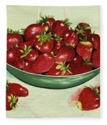 Strawberry Memories Fleece Blanket
