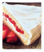 Strawberry Short Cake  Fleece Blanket