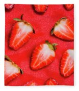 Strawberry Slice Food Still Life Fleece Blanket