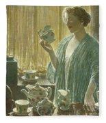 Strawberry Tea Set, 1912 Fleece Blanket