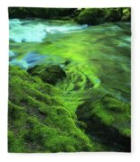 Stream Above Whitehorse Falls Fleece Blanket