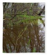 Stream Entering Mississippi River Fleece Blanket