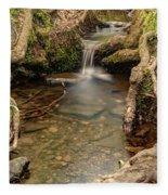 Stream In Judy Woods Fleece Blanket