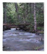 Stream In The Forest Fleece Blanket