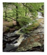 Stream In The Irish Countryside Fleece Blanket