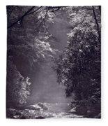 Stream Light B W Fleece Blanket