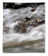 Stream Nature Spring Scene Fleece Blanket