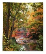 Stream Of Consiousness Fleece Blanket