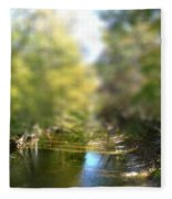 Stream Reflections Fleece Blanket
