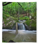 Stream Waterfall Fleece Blanket