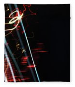 Street Busy Abstract  2 Fleece Blanket